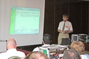Mark Cargill explains at the PROFIBUS Conference